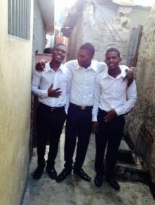 Trio dressed
